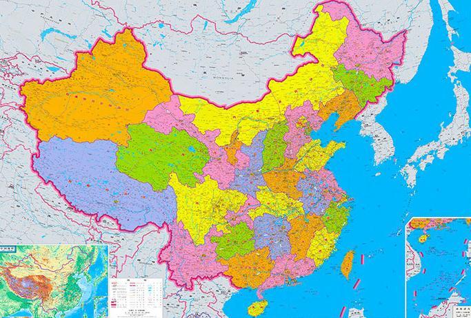 中国各省市地域面积排行榜