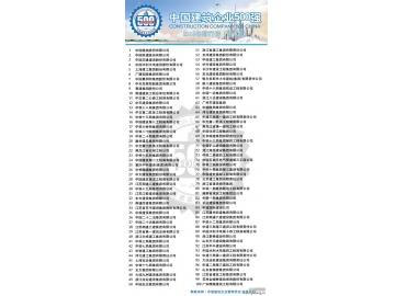 2013年中国建筑企业500强排行榜单前100