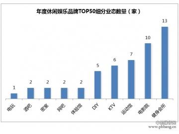 2015年度最受关注休闲娱乐品牌TOP50