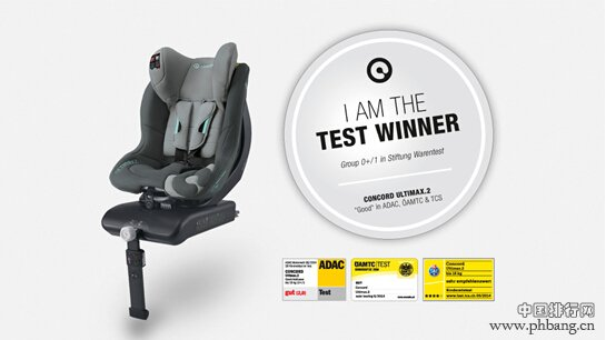 2014年儿童安全座椅测试成绩排名