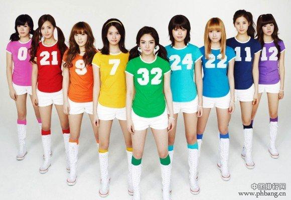 十大韩国天团排行 少女时代九缺一夺冠