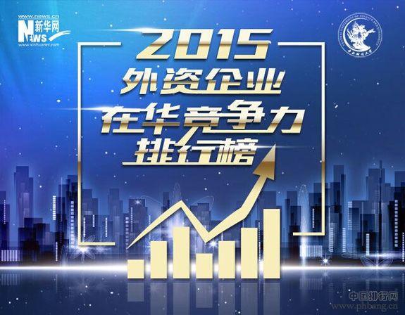 2015外资企业在华竞争力排行榜评选中