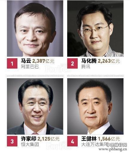 2018中国十大富豪排名_马云还是中国首富吗