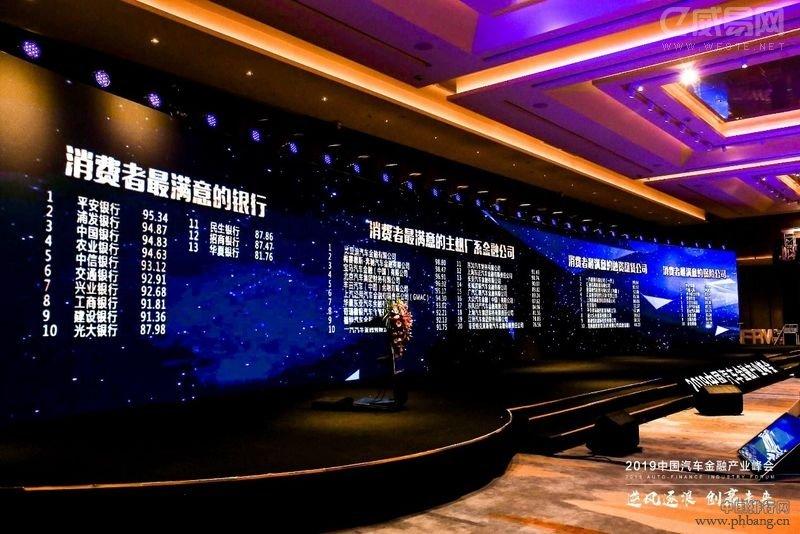 2019中国汽车金融满意度排行榜